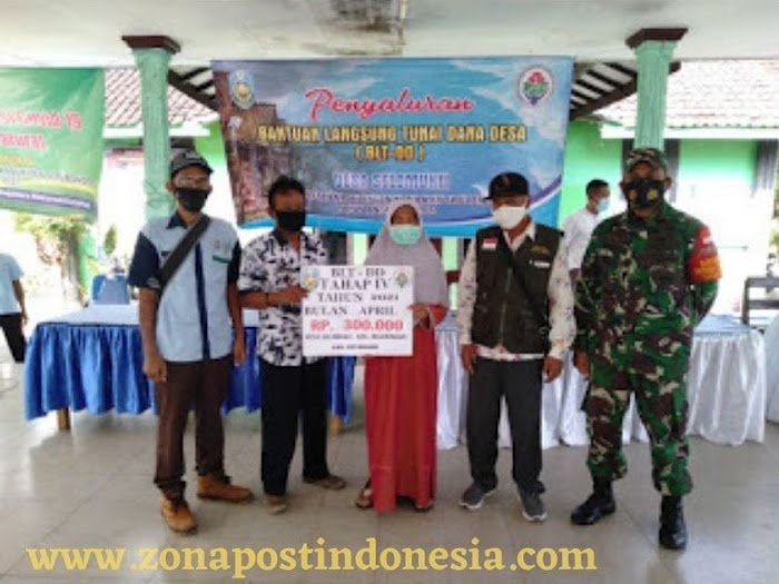 Pemerintah Desa Selomukti Kecamatan Mlandingan, Salurkan BLT DD Tahap Ke-4 Untuk 50 KPM