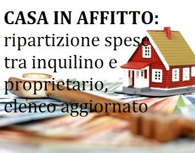 Casa in Affitto: Spese a Carico dellInquilino e del Proprietario ...