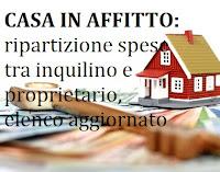 ripartizione spese immobile in affitto tra proprietario e inquilino