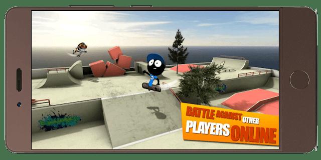 تحميل افضل لعبة تزلج للأطفال Stickman Skate Battle