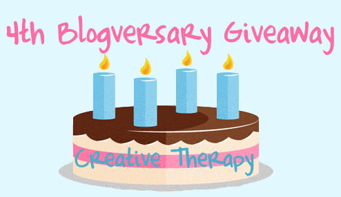 Celebrating my 4th Blogversary and Announcing the Giveaway Winner!