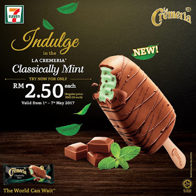 7 Eleven LA CREMERIA Classically Mint Ice Cream Discount Offer Promo