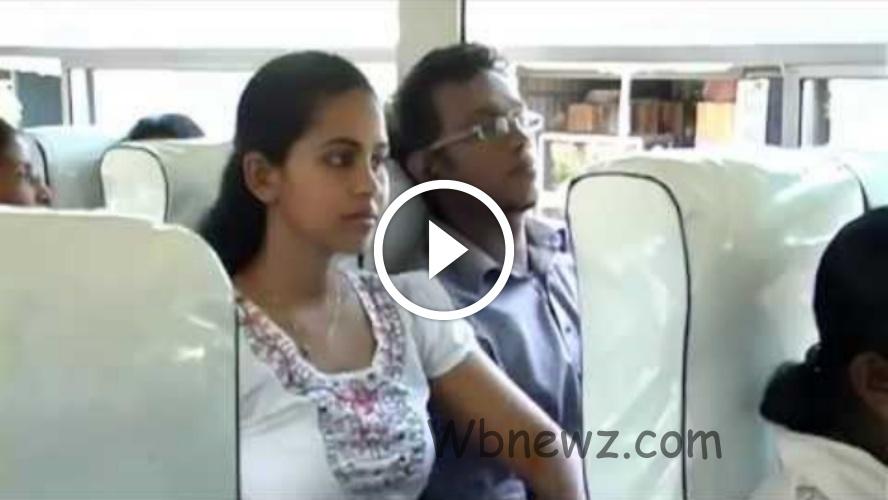 இளம் பெண் பஸ்ல இளைஞனுடன் செய்ற வேலையை பாருங்க- வீடியோ