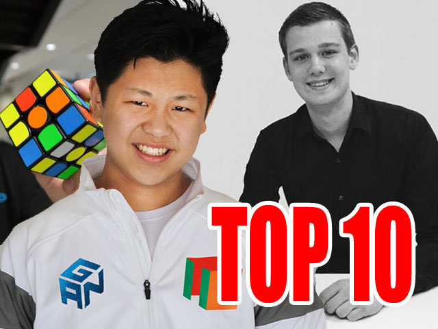 top ten speedcubers rubik's cube