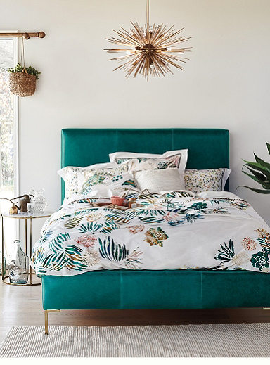 colorful bohemian bedrooms, bedding, and furniture from Anthropologie's Spring 2016 Look Book Collection