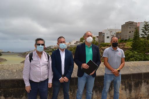 Visita del Consejero del Cabildo de Gran Canaria