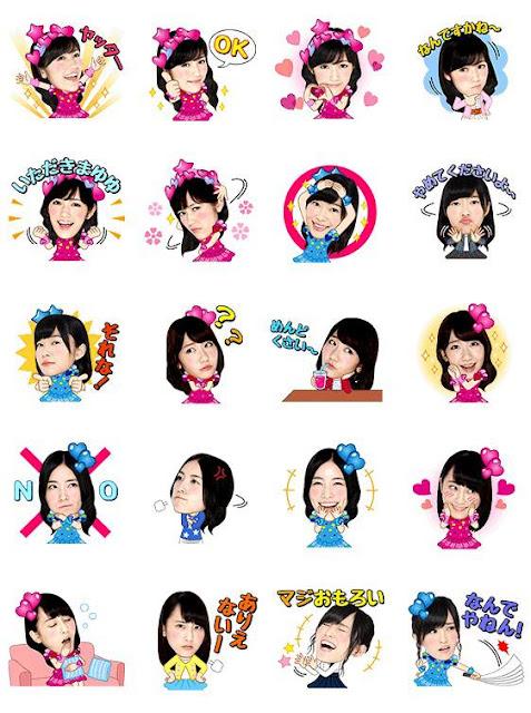 AKB48 Line貼圖