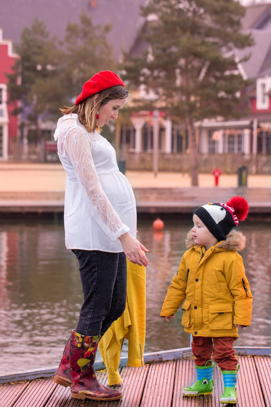 look grossesse preppy mère fils center parc
