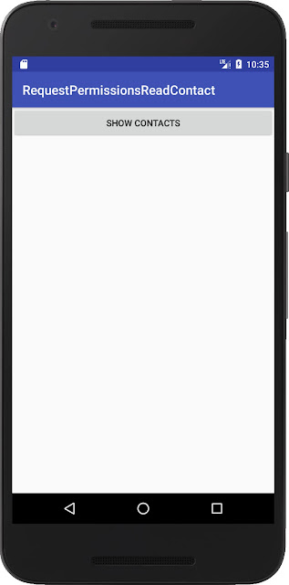 Android request contact permission Emulator