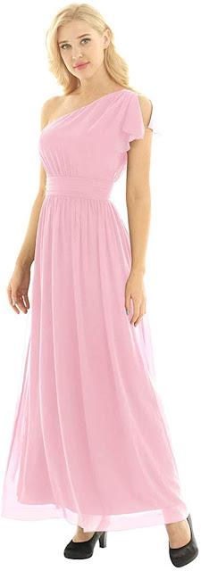 Pink Cheap Chiffon Bridesmaid Dresses