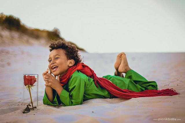 Pequeno príncipe brasileiro negro