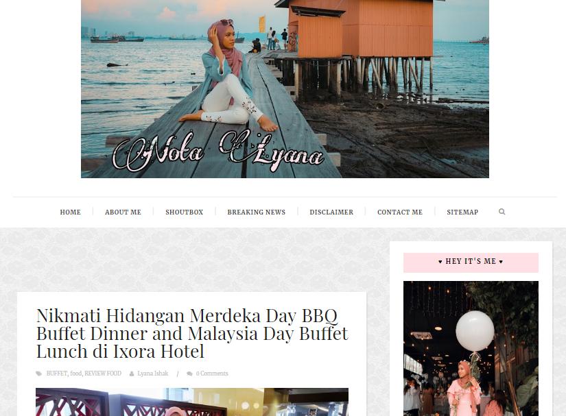 Tempahan Blog Design lyanaishak before