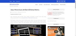 Jasa penulisan artikel di Kota Metro Lampung (MAHASISWA BISA)