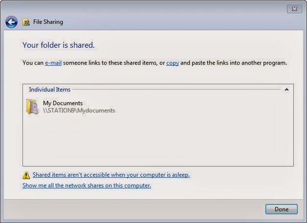 File Sharing Windows 7