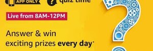 [All Answer]Amazon Quiz Answer Today Win Exciting Prizes