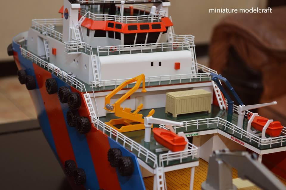 maket miniatur kapal miclyn enterprise meo miclyn express offshore group singapore bergaransi