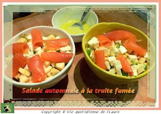 Vie quotidienne de FLaure: Salade automnale à la truite fumée