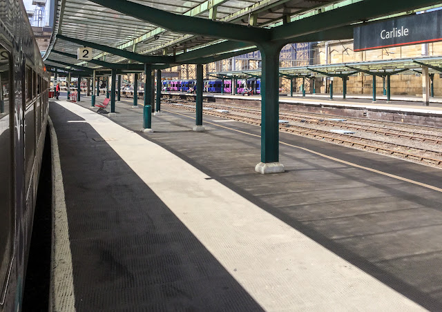 Photo of  Carlisle railway station last Friday