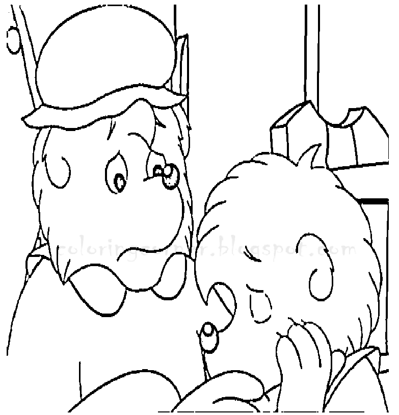berenstain bears christmas coloring pages - photo#24