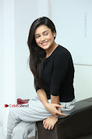 Telugu Actress Mishti Chakraborty Latest Pos in Black Top at Smile Pictures Production No 1 Movie Opening  0125.JPG