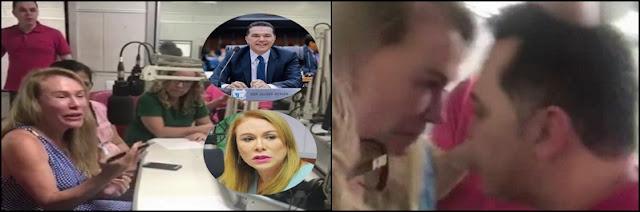 Deputado invade radio para agredir Teresa Surita