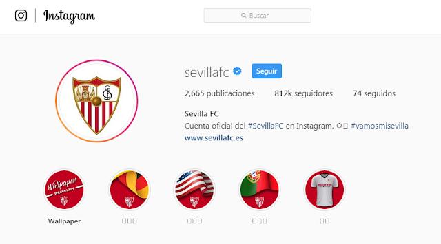 Instagram Sevilla FC