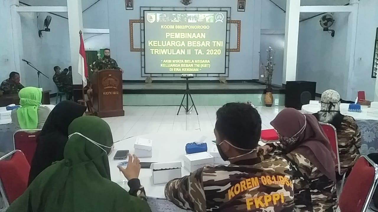 Kodim 0802/Ponorogo Gelar Pembinaan Kepada Keluarga Besar TNI
