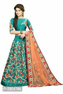 Simple Design Embroidered Lehenga Cholis