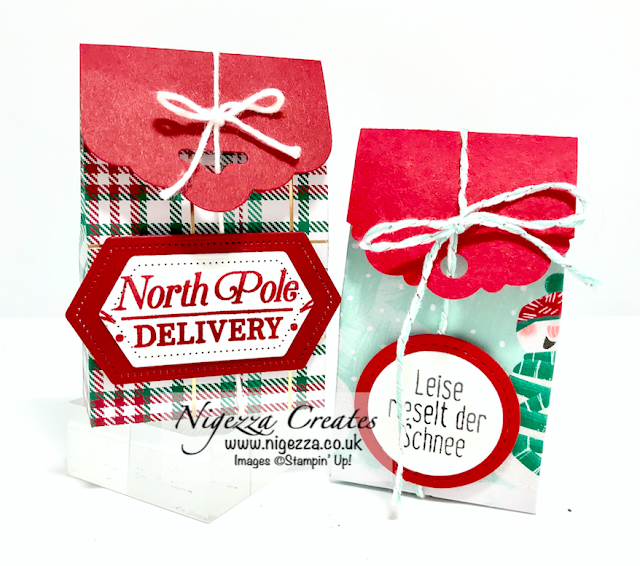 Nigezza Creates With Stampin Up Live on Facebook Wrapped in Plaid gift box