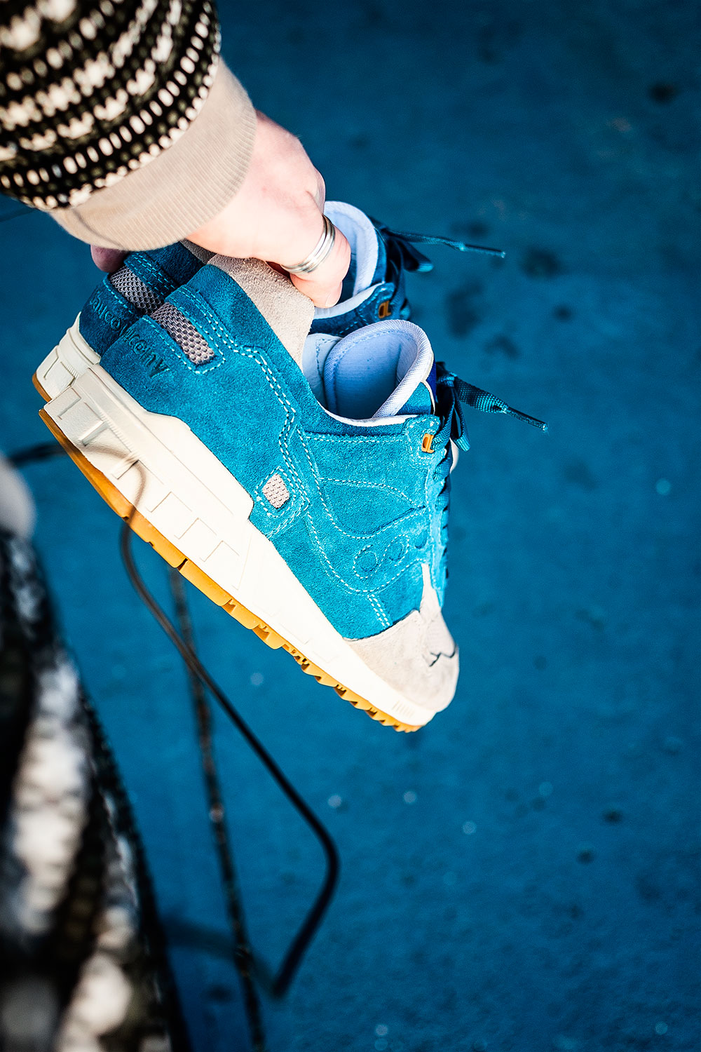 Bodega X Saucony Elite Shadow 5000 Teal/Grey Sneakers by Tom Cunningham