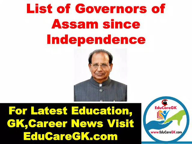 List of Governors of Assam since Independence