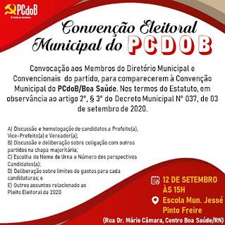 PC do B realizará sua convenção amanhã