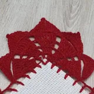 Puntilla Sol Fuego a Crochet