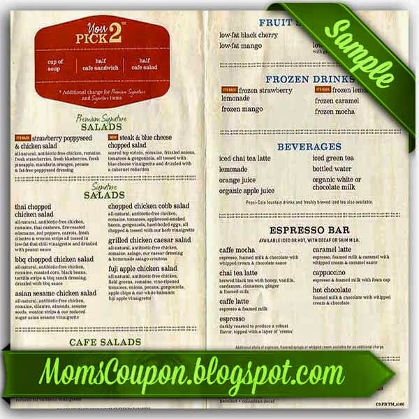 panera bread printable menu where to find free printable panera bread coupons 23892