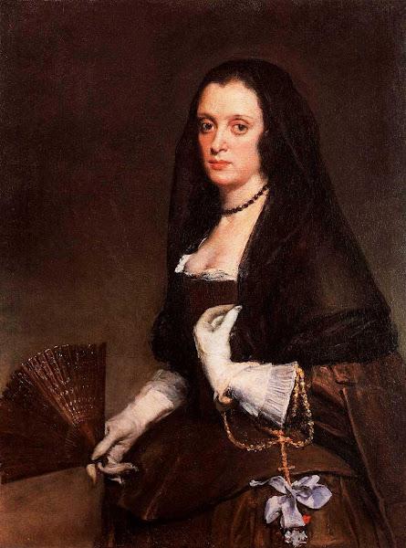 Диего Веласкес - Портрет дамы с веером (ок.1640)