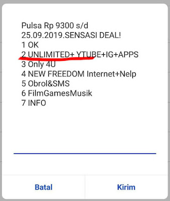 unlimited youtube 5000 rupiah
