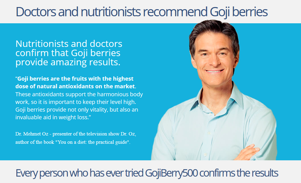"""Goji berries are the fruits with the highest dose of natural antioxidants on the market. These antioxidants support the harmonious body work, so it is important to keep their level high. Goji berries provide not only vitality, but also an invaluable aid in weight loss."""