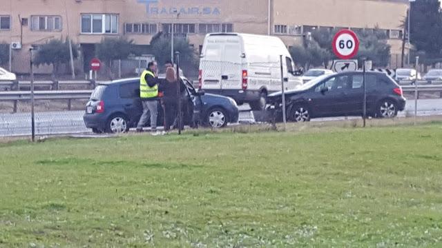 imagen de la granizada y el accidente en el A42 a la entrada de EL Señorio de Illescas