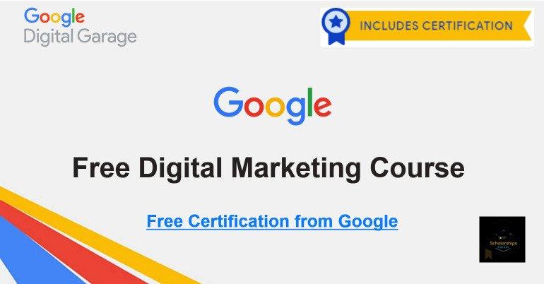 Cours Certifié et gratuit de Marketing Digital par Google