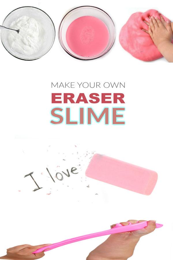 ERASER SLIME: Homemade slime that erases! This is AWESOME! #slime #slimerecipe #slimerecipeeasy #eraserslime #eraserslimerecipe #slimeforkids #growingajeweledrose