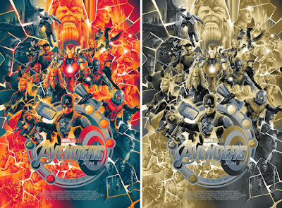 Avengers: Endgame Movie Poster Screen Print by Matt Taylor x Mondo