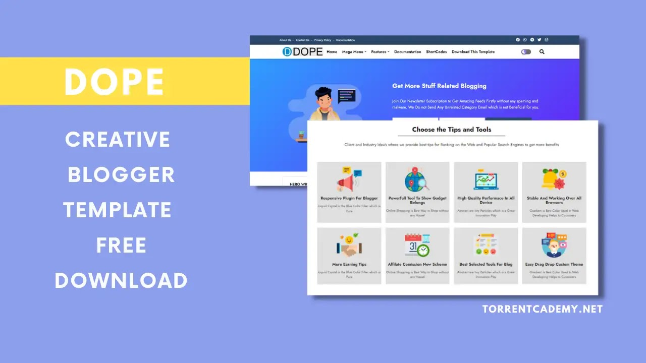 Dope-Blogger-Template-Free-Download