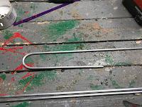 Semi-circle bent into the rod