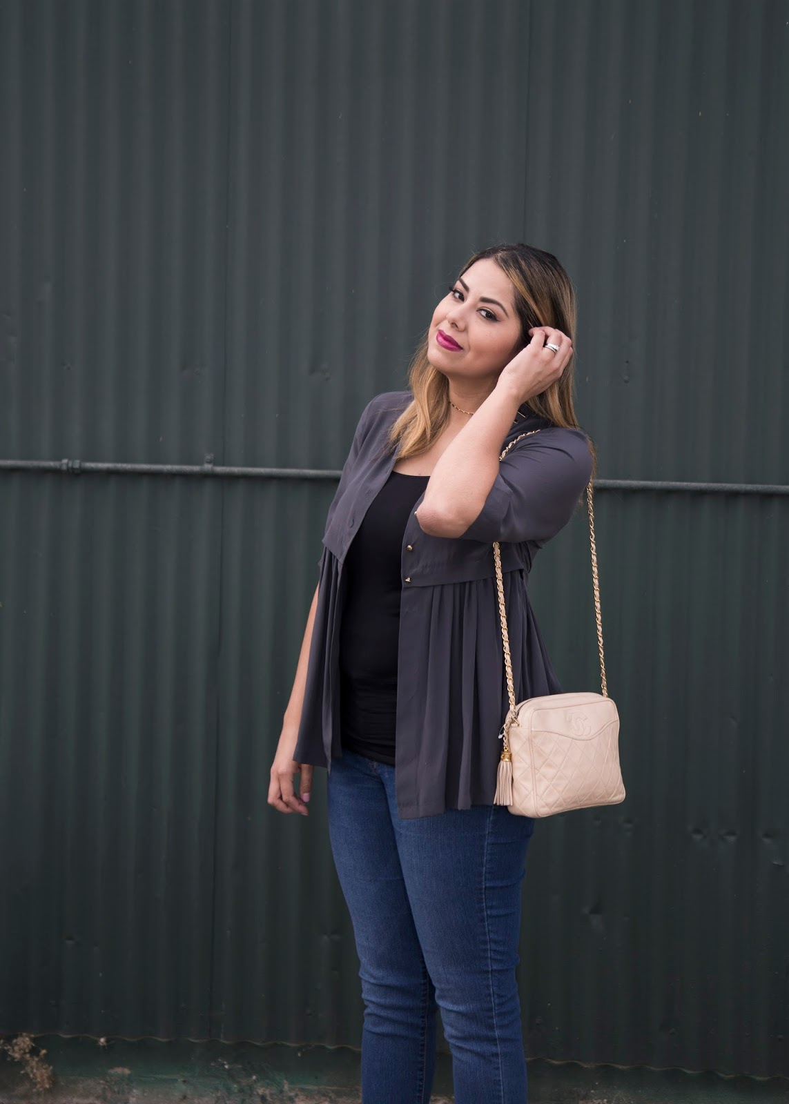 beige chanel bag outfit, how to wear a beige chanel bag, latina style blogger, socal fashion blogger