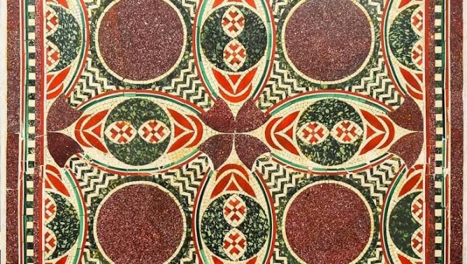Roma: il Mosaico della nave di Caligola torna al Museo di Nemi