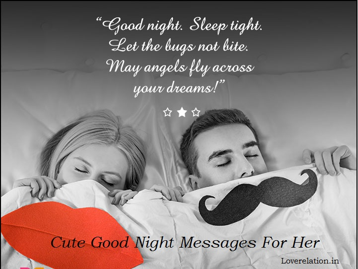 Cute Good Night Text Messages For Her Quotes For Her