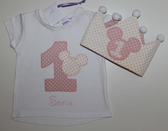 conjunto de cumpleaños camiseta y corona