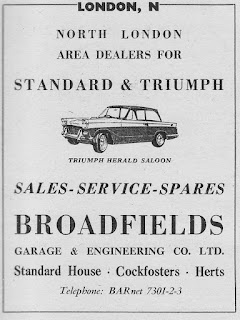 Broadfields advert from Autocar 30 October 1959