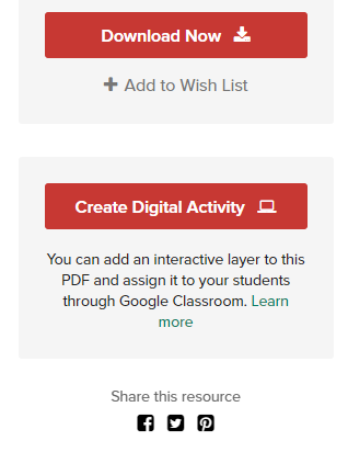 What does the new Digital Activity feature on TPT do for Distance Learning?