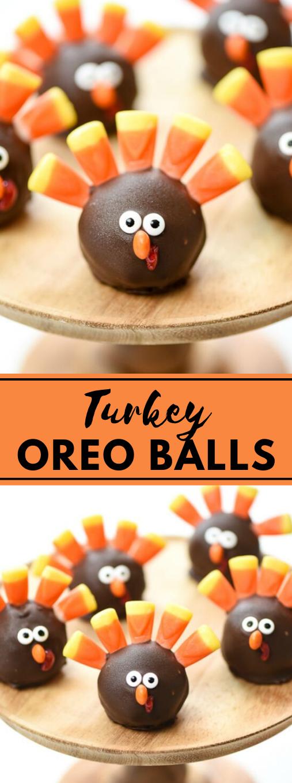 Turkey OREO Balls #desserts #snack #oreo #brownies #balls